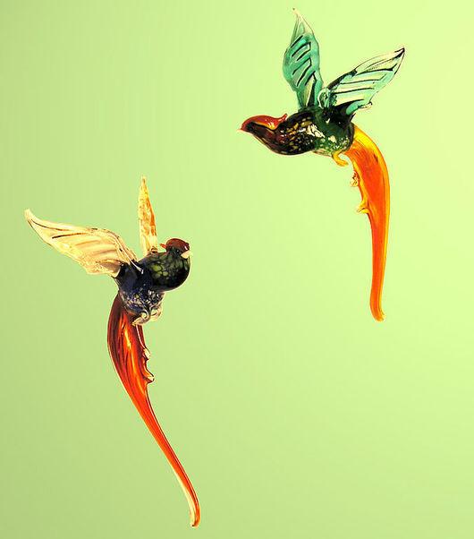 Interior Items handmade. Livemaster - handmade. Buy Interior hanging decoration stained glass bird Pheasant.Birds, virtue, phoenix