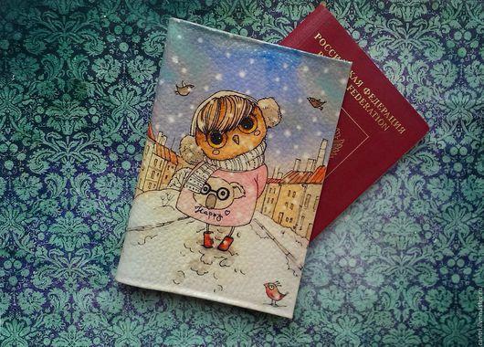 Обложки ручной работы. Ярмарка Мастеров - ручная работа. Купить Обложка для паспорта  СОВУНьЯ.... Handmade. Паспорт, обложка для паспорта