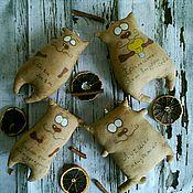 Куклы и игрушки ручной работы. Ярмарка Мастеров - ручная работа Кофейные игрушки Коты Позитивы. Handmade.