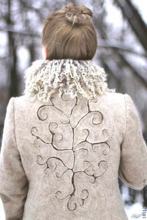 """Верхняя одежда ручной работы. Ярмарка Мастеров - ручная работа. Купить Пальто """"Древо жизни"""". Handmade. Бежевый, Климт"""