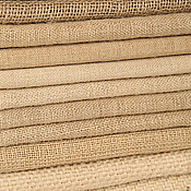 Материалы для творчества ручной работы. Ярмарка Мастеров - ручная работа Ткань из джута, 6 видов. Handmade.
