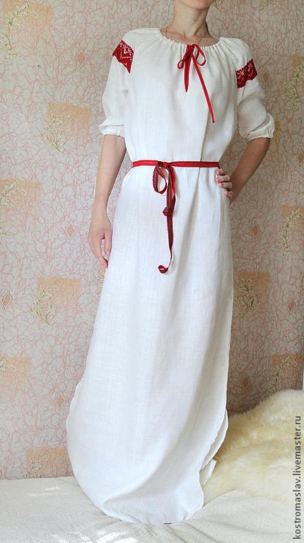 Рост модели 170 см. длину можно укоротить. рубашка женская праздничная купить, рубаха из льна, рубаха с вышивкой, славянская обрядовая одежда, рубаху на заказ, рубашка льняная женская, рубаха изо льна