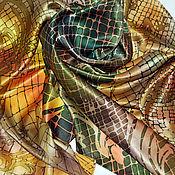 "Аксессуары ручной работы. Ярмарка Мастеров - ручная работа Батик платок ""Лунные саламандры"". Handmade."