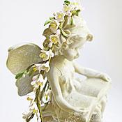 Свадебный салон ручной работы. Ярмарка Мастеров - ручная работа Венок с цветами из полимерной глины. Handmade.