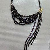 Украшения handmade. Livemaster - original item Necklace made of hematite, bronzite with gilding. Handmade.
