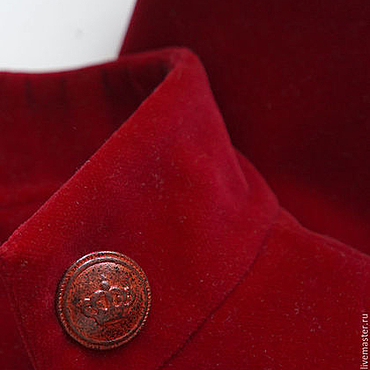 Одежда ручной работы. Ярмарка Мастеров - ручная работа Жакет-болеро натуральный бархат красный. Handmade.