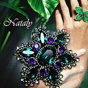 """Украшения ручной работы. Ярмарка Мастеров - ручная работа Брошь """"Emerald flower"""". Handmade."""
