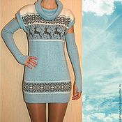 Одежда handmade. Livemaster - original item Tunic knit with a Norwegian ornament. Handmade.
