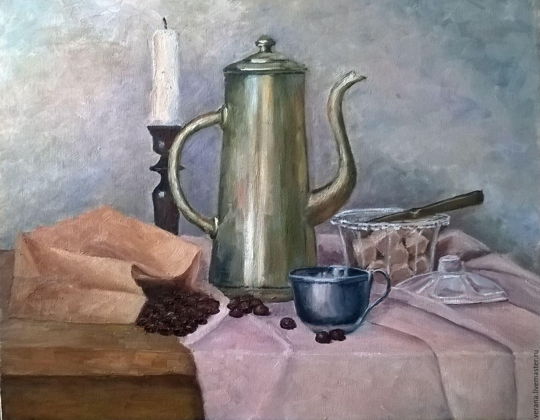 Картина маслом. Кофейный натюрморт, Картины, Жуковский,  Фото №1