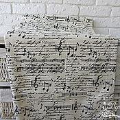Материалы для творчества ручной работы. Ярмарка Мастеров - ручная работа Музыкальная ткань. Handmade.