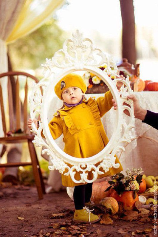 Одежда для девочек, ручной работы. Ярмарка Мастеров - ручная работа. Купить Жёлтое пальто + берет. Handmade. Желтый