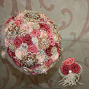 Свадебный салон handmade. Livemaster - original item Coral brooch-bouquet