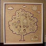 Картины и панно ручной работы. Ярмарка Мастеров - ручная работа Генеалогическое дерево. Handmade.