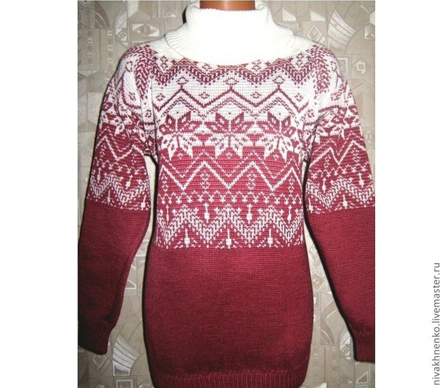 Knitted sweater with a Norwegian ornament, Sweaters, Moscow,  Фото №1