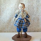 Куклы и игрушки ручной работы. Ярмарка Мастеров - ручная работа Мини-кукла в стиле Izannah Walker. Адам.. Handmade.