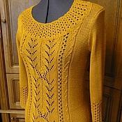 """Одежда ручной работы. Ярмарка Мастеров - ручная работа Пуловер """"Медовое золото"""". Handmade."""