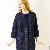 """Одежда ручной работы. Ярмарка Мастеров - ручная работа Шуба""""Синий каракуль сапфировый"""". Handmade."""