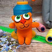 Куклы и игрушки handmade. Livemaster - original item Keychain red kitten soft toy plush cat gift in the car. Handmade.