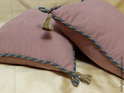 Текстиль, ковры ручной работы. Ярмарка Мастеров - ручная работа. Купить Подушка с кисточками Розовые Сны. Handmade. Розовый, чехол