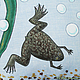 Текстиль, ковры ручной работы. Подушка со шпорцевыми лягушками. Эмина Ядовитая (lamart). Ярмарка Мастеров. Болото, юмор