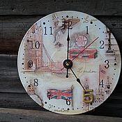 """Для дома и интерьера ручной работы. Ярмарка Мастеров - ручная работа Часы """"Лондон.  файв-о-клок"""". Handmade."""