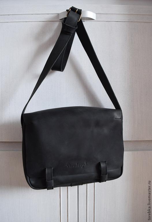 Мужские сумки ручной работы. Ярмарка Мастеров - ручная работа. Купить сумка. Handmade. Черный, минимализм