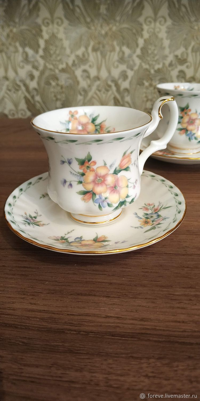 Royal Albert. ' Constance'.  Tea and coffee pair, Vintage mugs, Belorechensk,  Фото №1