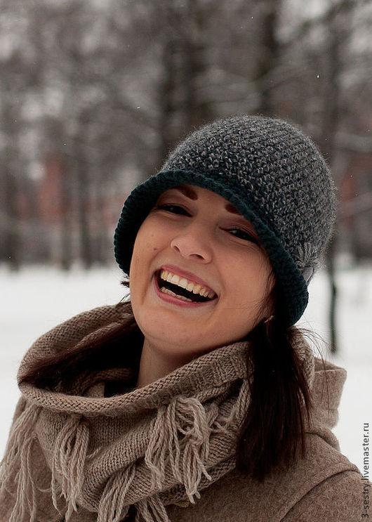 Шапка, шапочка, шапки, вязаная шапка, шляпка вязаная, шляпа, шляпка, женские шляпки серый, шляпки, теплая шапка, шапки теплые, шапки зимние, зимние шапки серый.