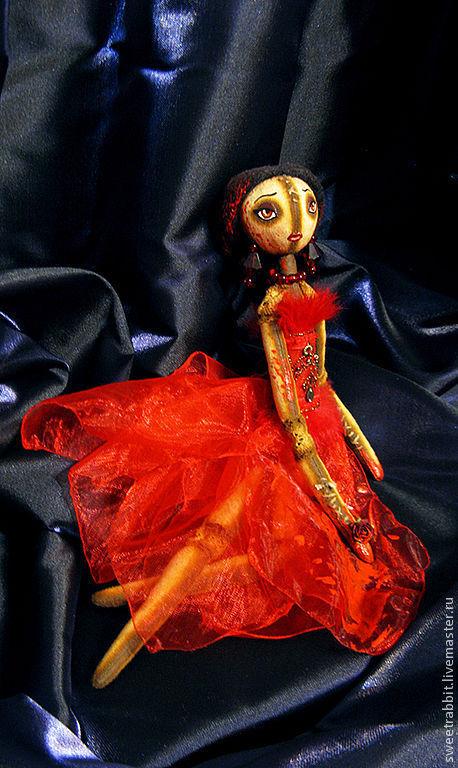 """Коллекционные куклы ручной работы. Ярмарка Мастеров - ручная работа. Купить Кукла """"Кровавая Графиня"""". Handmade. Ярко-красный, кровь"""