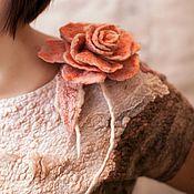 Одежда ручной работы. Ярмарка Мастеров - ручная работа Пудровая Роза для фактурных девушек. Handmade.