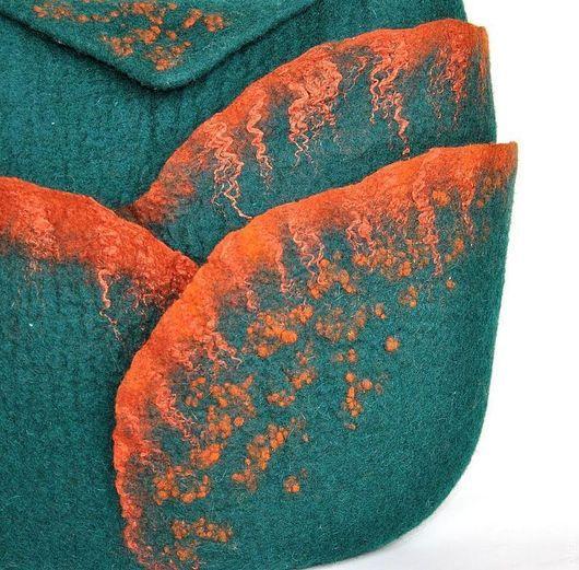Женские сумки ручной работы. Ярмарка Мастеров - ручная работа. Купить Сумка Авокадо.. Handmade. Тёмно-зелёный, валяная сумка
