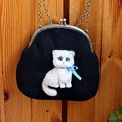 Сумки и аксессуары handmade. Livemaster - original item Bag with cats made of wool. Handmade.