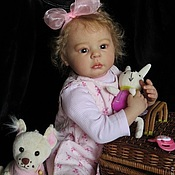 Куклы Reborn ручной работы. Ярмарка Мастеров - ручная работа кукла реборн Оленька (молд Оливия). Handmade.