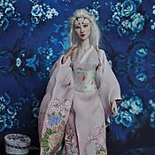 """Куклы и игрушки ручной работы. Ярмарка Мастеров - ручная работа Шарнирная фарфоровая кукла """"Кицуне. Белая лиса"""". Handmade."""