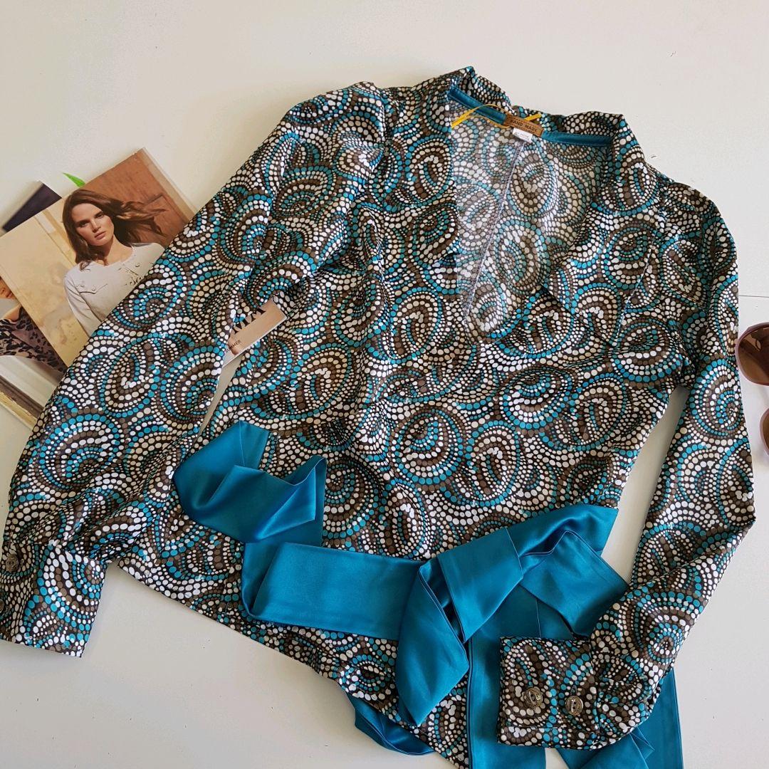 Блузка на запах. Россыпь. Многослойность в одежде, Блузки, Истра,  Фото №1
