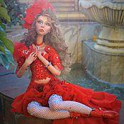 """Куклы и пупсы ручной работы. Ярмарка Мастеров - ручная работа Авторская интерьерная кукла"""" Красная роза"""".. Handmade."""
