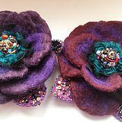 Украшения ручной работы. Ярмарка Мастеров - ручная работа Брошь фиолетовая роза. Handmade.