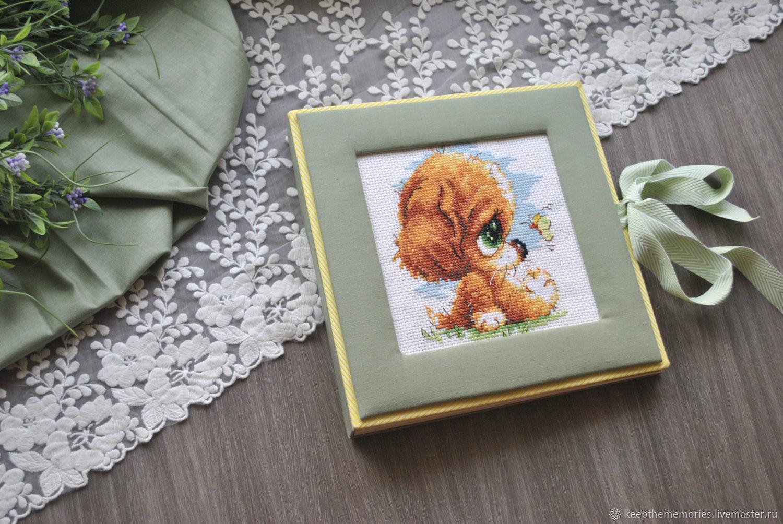 Детский фотоальбом с ручной вышивкой на обложке, Фотоальбомы, Тула,  Фото №1