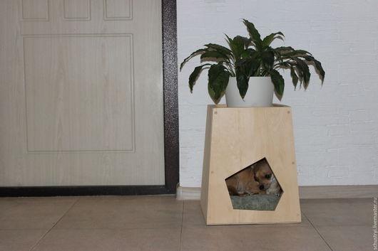 Аксессуары для собак, ручной работы. Ярмарка Мастеров - ручная работа. Купить Будка домик  для  питомцев из кедра + мини сад Мечта Тузика. Handmade.