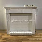 Для дома и интерьера ручной работы. Ярмарка Мастеров - ручная работа Декоративный камин с подиумом и стенкой из гипса КМР-102 фальш камин. Handmade.