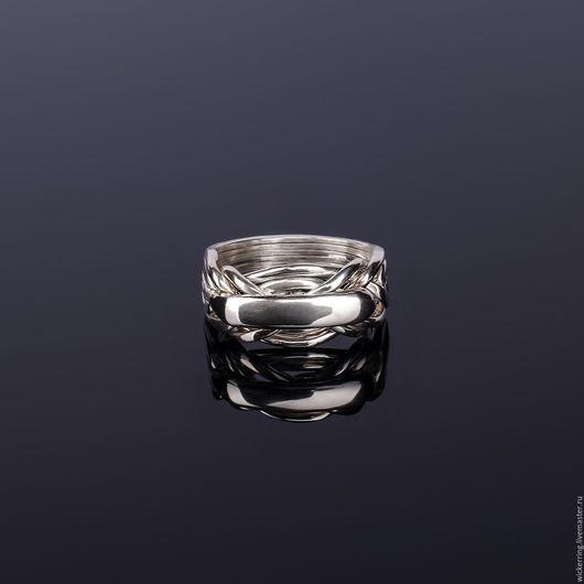 Серебряные кольца головоломки от WickerRing