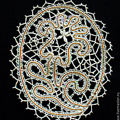 Для дома и интерьера ручной работы. Ярмарка Мастеров - ручная работа Кружевной сувенир «Ландыш». Handmade.