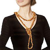 Работы для детей, handmade. Livemaster - original item Amber beads long untreated natural stone healing. Handmade.