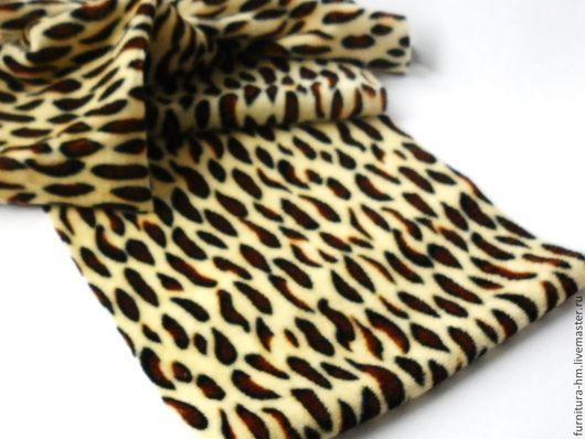 Шитье ручной работы. Ярмарка Мастеров - ручная работа. Купить Велюр леопард. Отрезы. Handmade. Разноцветный, материалы для рукоделия, ткани