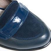 Обувь ручной работы. Ярмарка Мастеров - ручная работа Туфли Blue. Handmade.