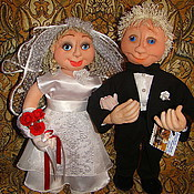 Свадебный салон ручной работы. Ярмарка Мастеров - ручная работа Свадебные куклы из капрона.Молодожены, новобрачные,свадьба. Handmade.