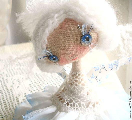 Коллекционные куклы ручной работы. Ярмарка Мастеров - ручная работа. Купить ещё одно Счастье...Белоснежное!...интерьерная кукла. Handmade.