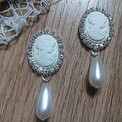 Материалы для творчества handmade. Livemaster - original item !Scrapbooking. Decor-the buckle,brooch with rhinestones, CAMEO with pearls tears. Handmade.