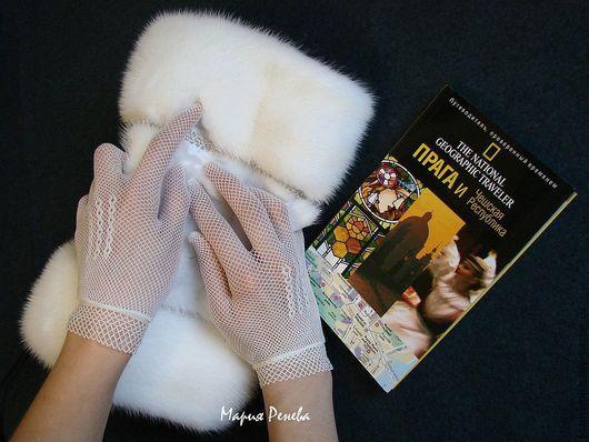 """Варежки, митенки, перчатки ручной работы. Ярмарка Мастеров - ручная работа. Купить Муфта """"Царевна"""". Handmade. Белый, муфта из норки"""
