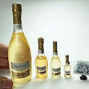 """Кукольная еда ручной работы. Ярмарка Мастеров - ручная работа Кукольная еда: Шампанское """"Prosecco Casa Defra"""". Handmade."""